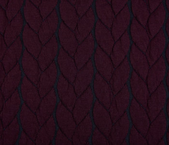 Gebreide kabel stof tricot Multi Color Bordeaux