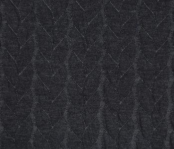 Gebreide kabel stof tricot Donker Grijs