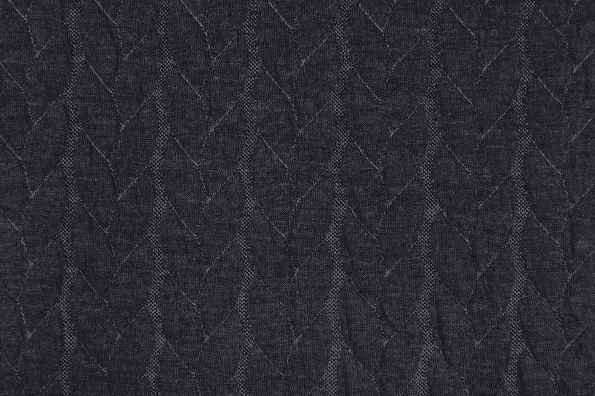 Gebreide kabel stof tricot Multi Color Donker Grijs