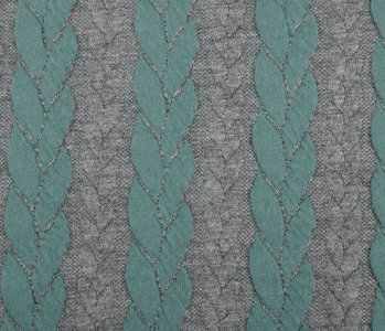 Multi Color Gestrickte Kabel Stoff tricot Mint Grau