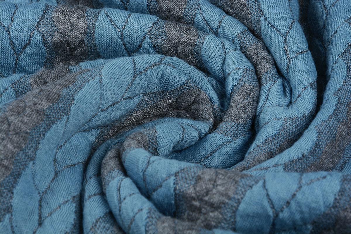 Multi Color Gestrickte Kabel Stoff tricot Grey Hellaqua