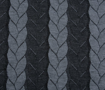 Knitted Cable fabric tricot Multi Color Grey Dark Grey