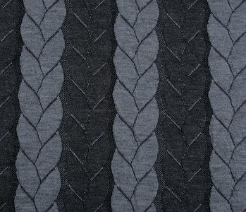Multi Color Gestrickte Kabel Stoff tricot Grau Dunkel Grau