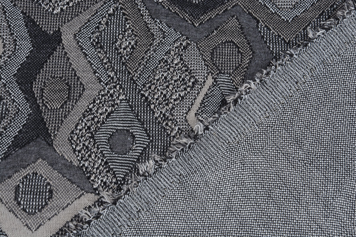 Jacquard gestrickt Picassa Grau