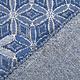Jacquard Gebreid Lurex Bloemen Blauw
