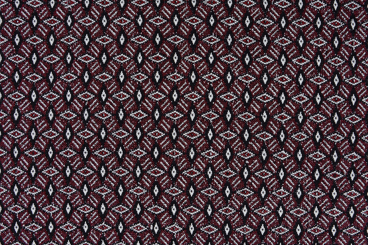 Jacquard gestrickt Diamond Bordeaux