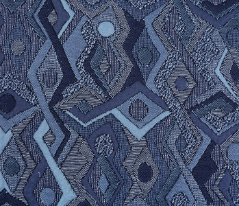 Jacquard Knitted Picassa Blue