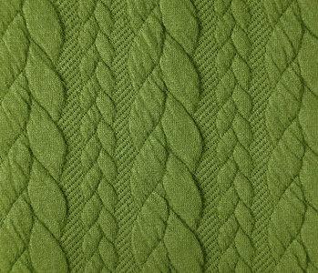 Gestrickte Kabel Stoff tricot Lime Grün