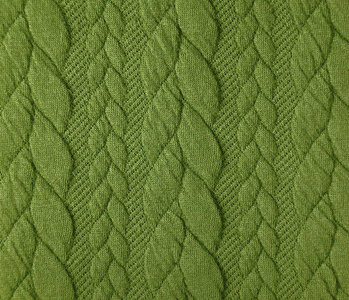 Knitted Cable fabric tricot Lime Green