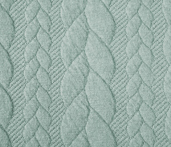 Knitted Cable fabric tricot Light Mint