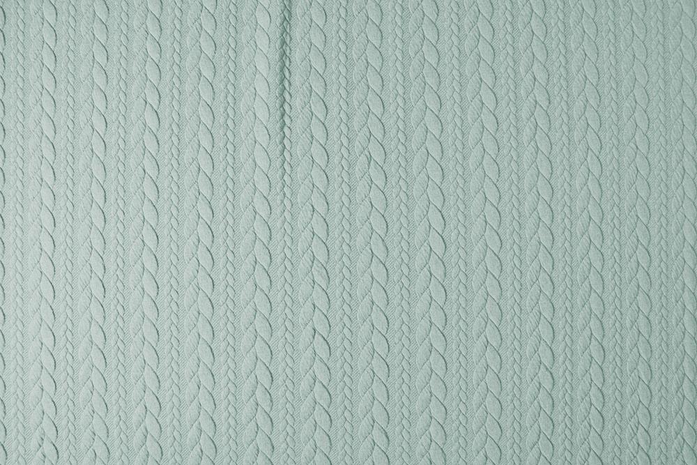 Gebreide kabel stof tricot Licht Mint