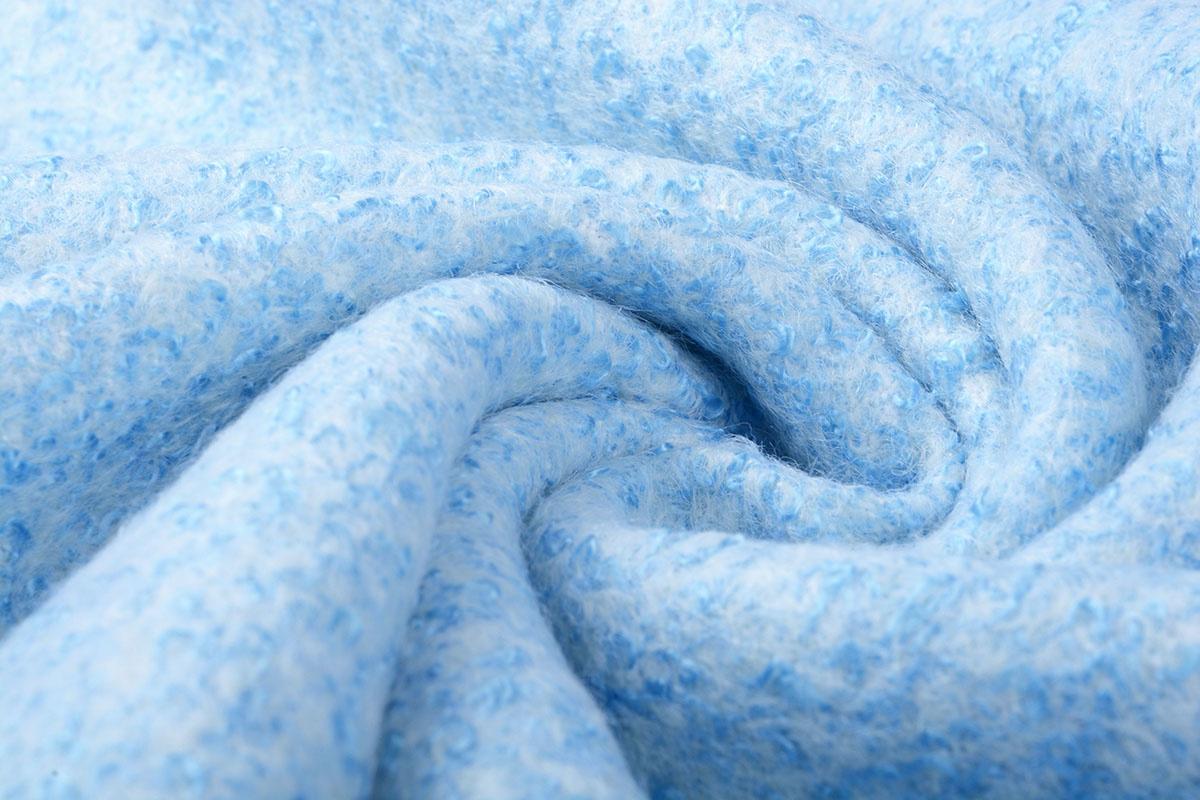 Gestrickter WollStoff Lanoso Baby Blau