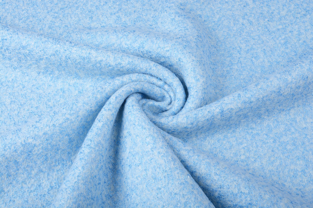 Gebreide Wollen stof Lanoso Baby Blauw