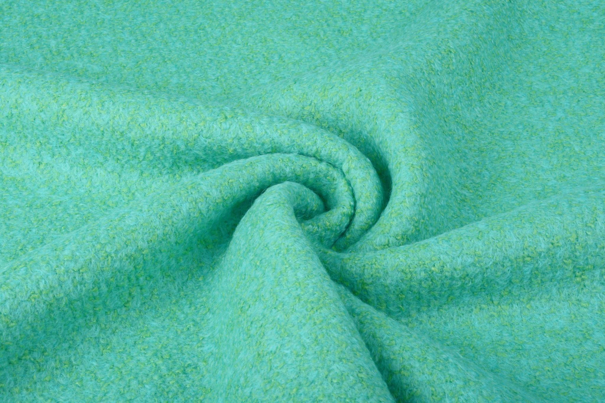 Gebreide Wollen stof Lana Licht Blauw Groen
