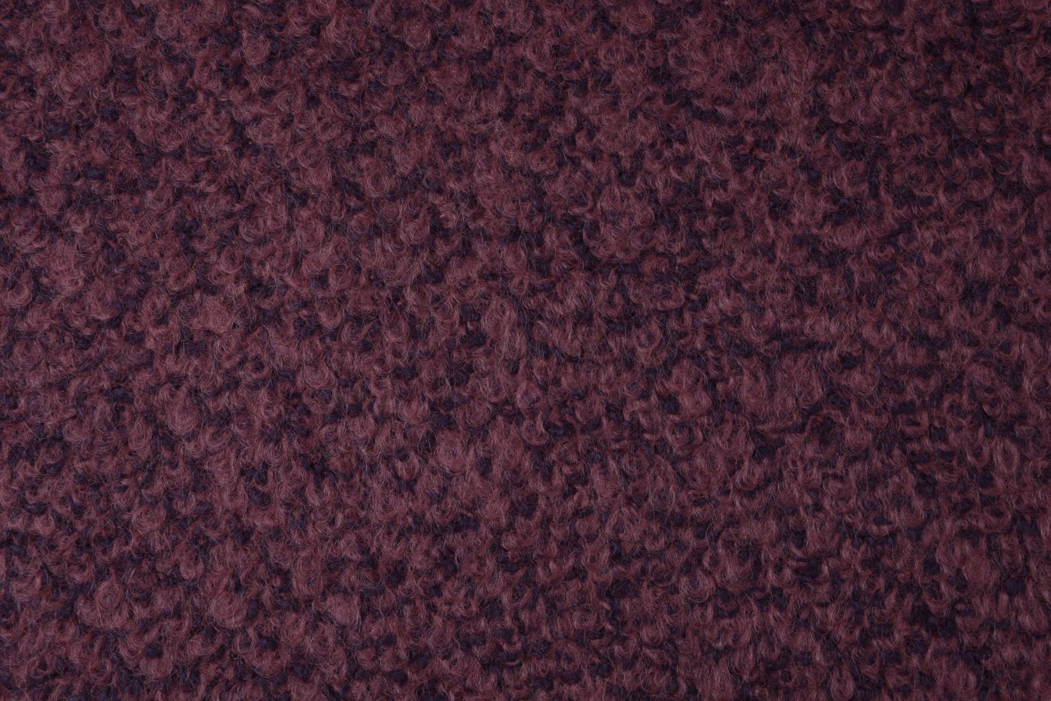 Gebreide Wollen stof Lana Oud Roze Paars