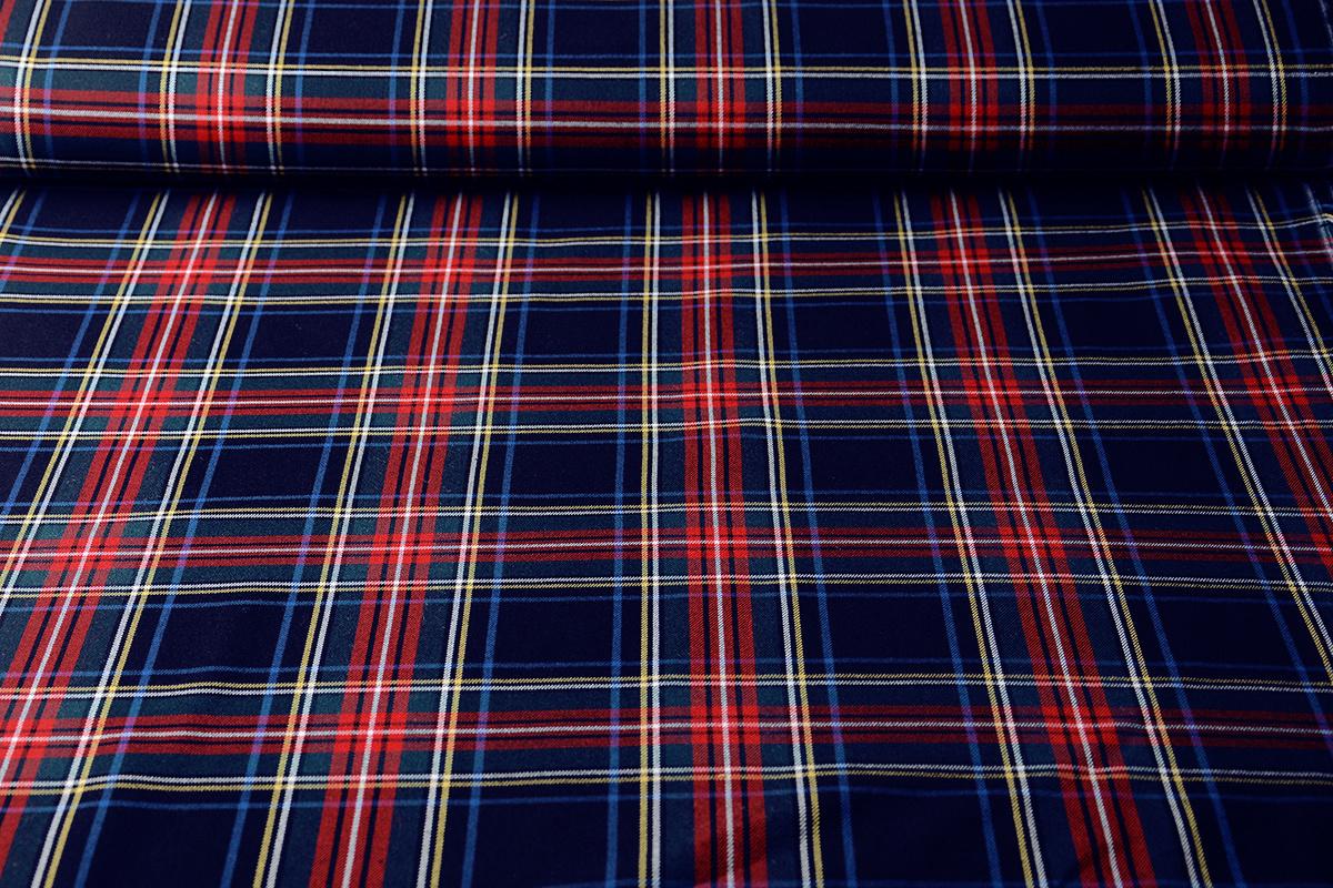 Scottish checks stretch 3 Marine