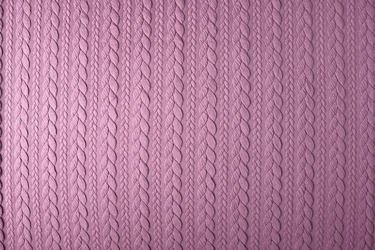 Gebreide kabel stof tricot Donker oud roze