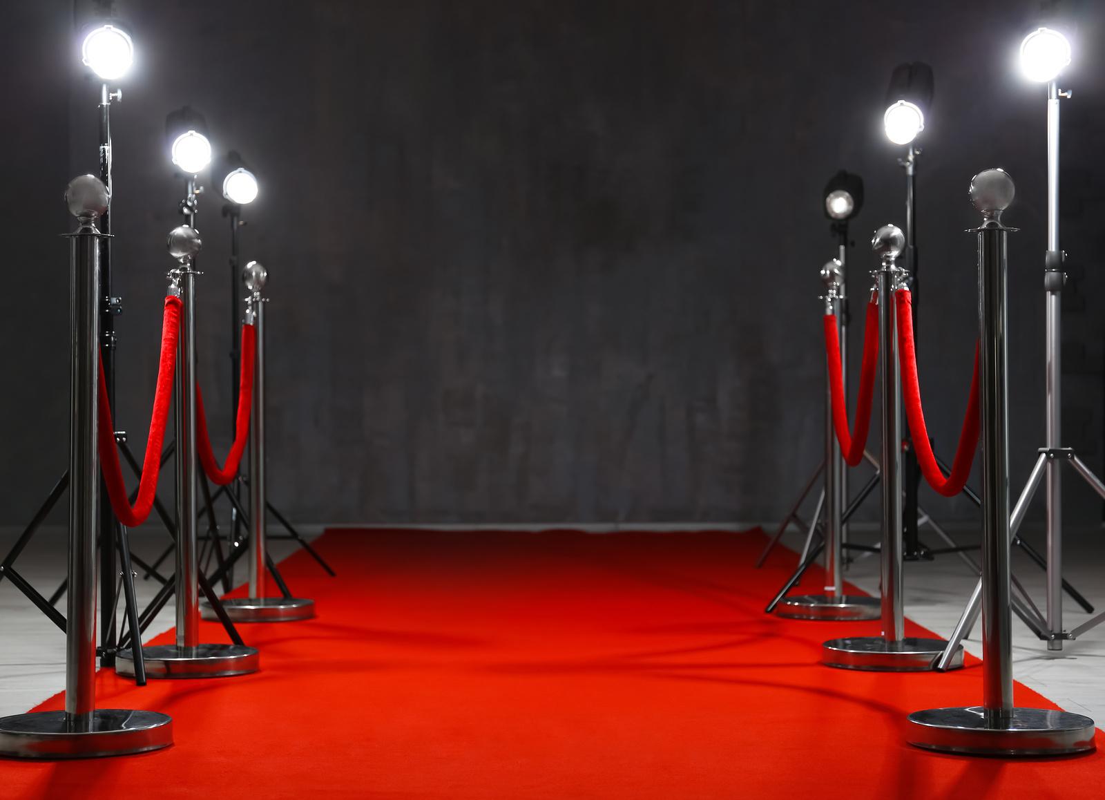 Red carpet fabric - 1 meter width