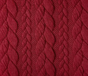 Gestrickte Kabel Stoff tricot Rot