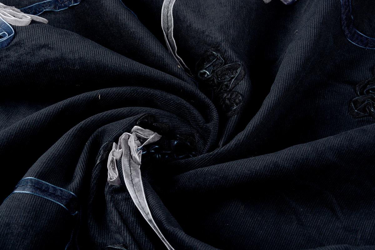 21 W 100% Baumwolle Cord Rib Band Schwarz