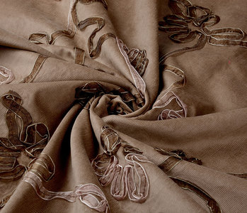 21 W Cotton Corduroy Rib Ribbon Dark Sand