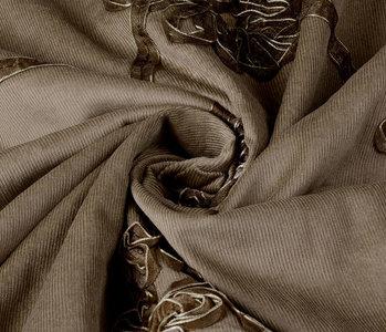 21 W Cotton Corduroy Rib Ribbon Mocha Brown