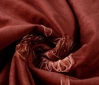 21 W Cotton Corduroy Rib Ribbon Red Brique