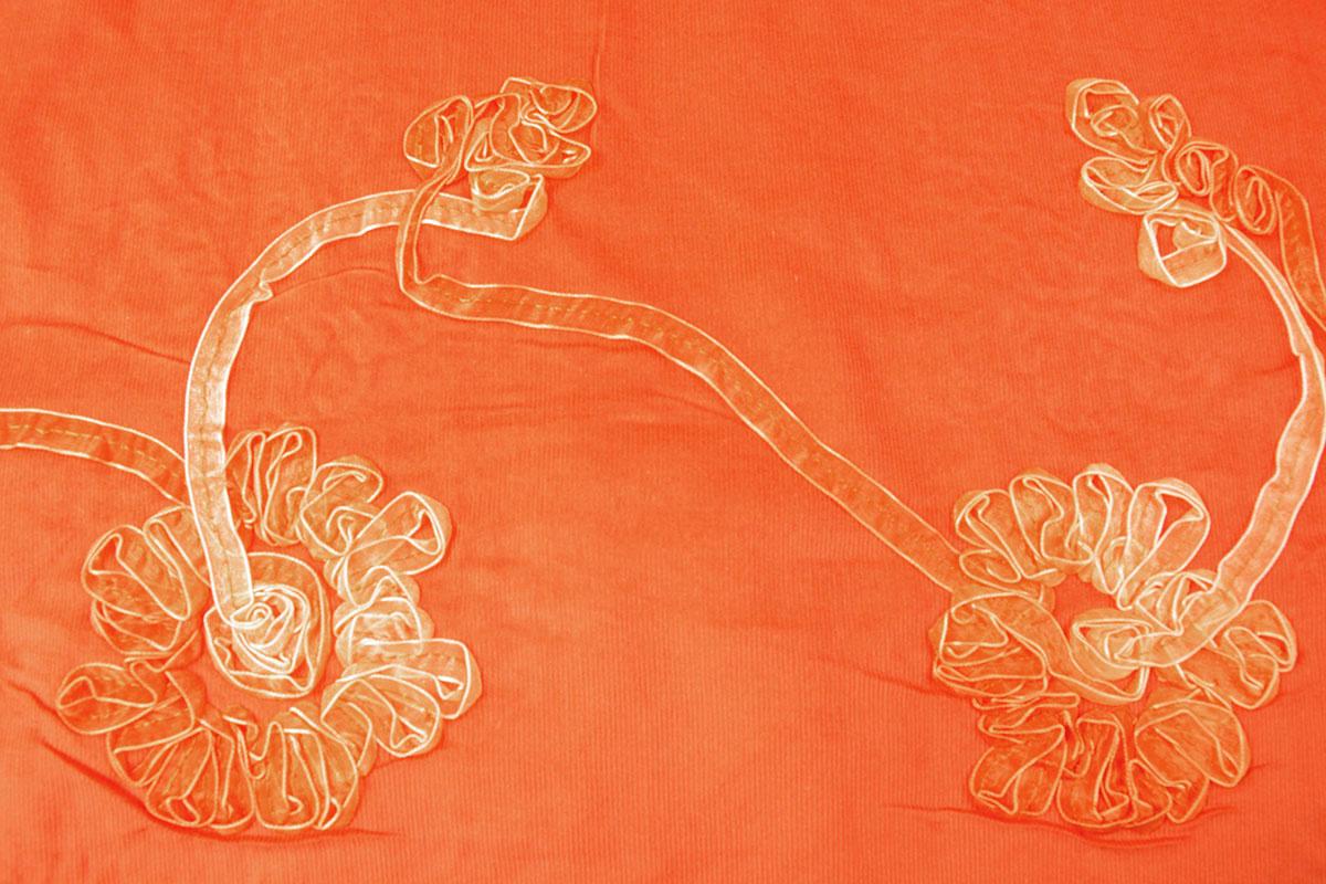 12 W 100% Baumwolle Cord Rib Band Orange