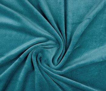 Nicky Velours Petrol blauw