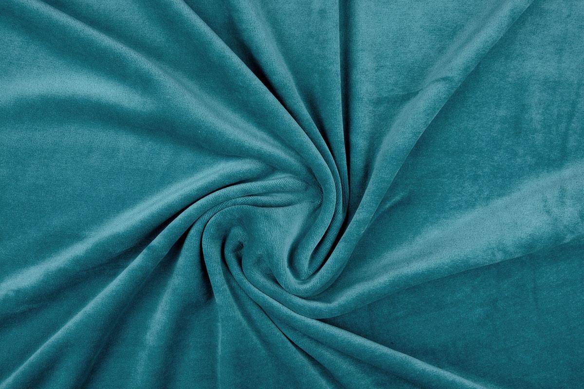 Nicky Velours Petrol Blau