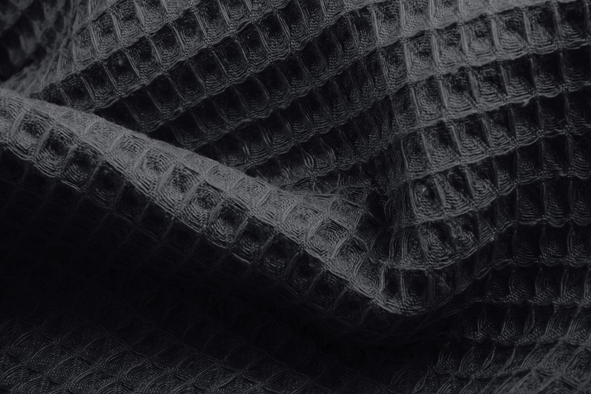Oeko-Tex®  Wafel Katoen Donker grijs