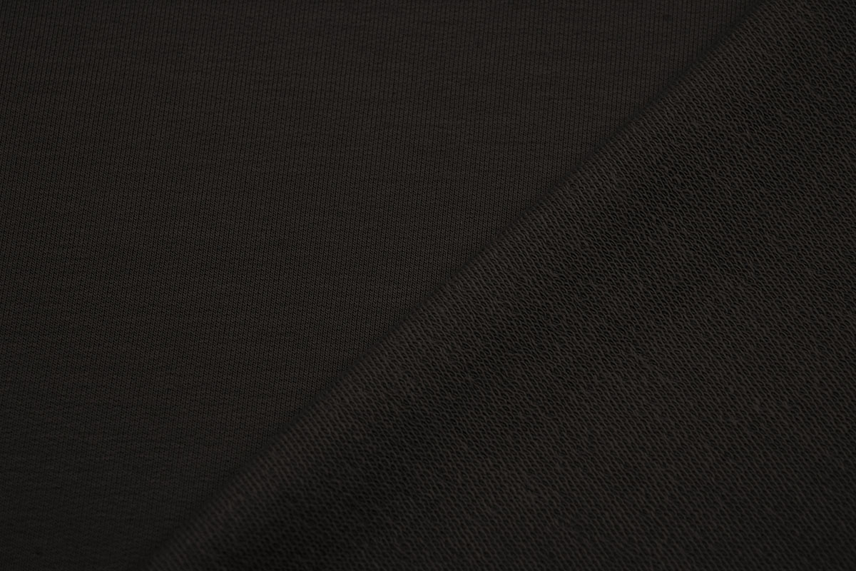 Oeko-Tex®  French Terry Donker bruin