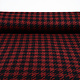 Woolen fabric Pied de Poule Red-Black