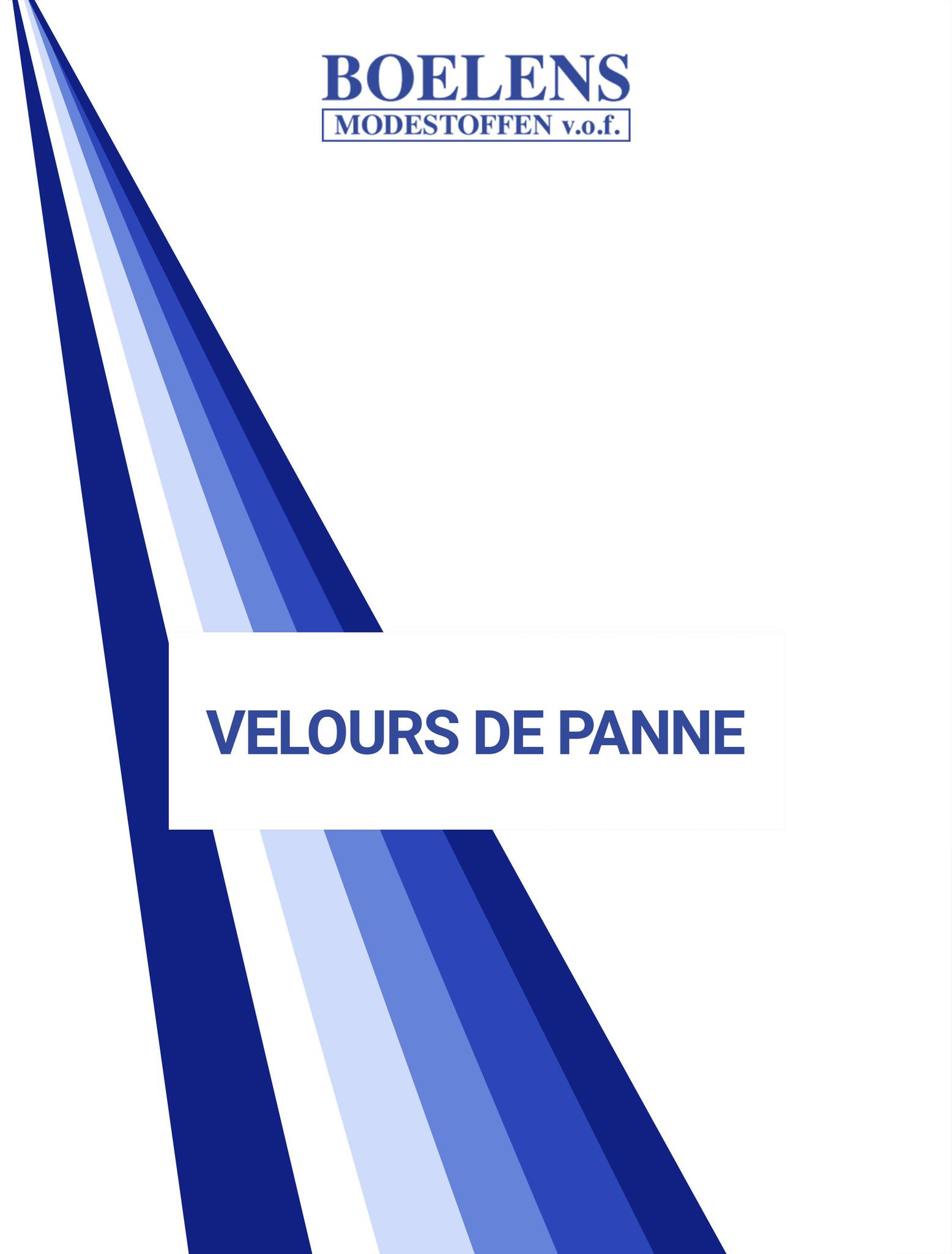 Farbekarte Velours de panne