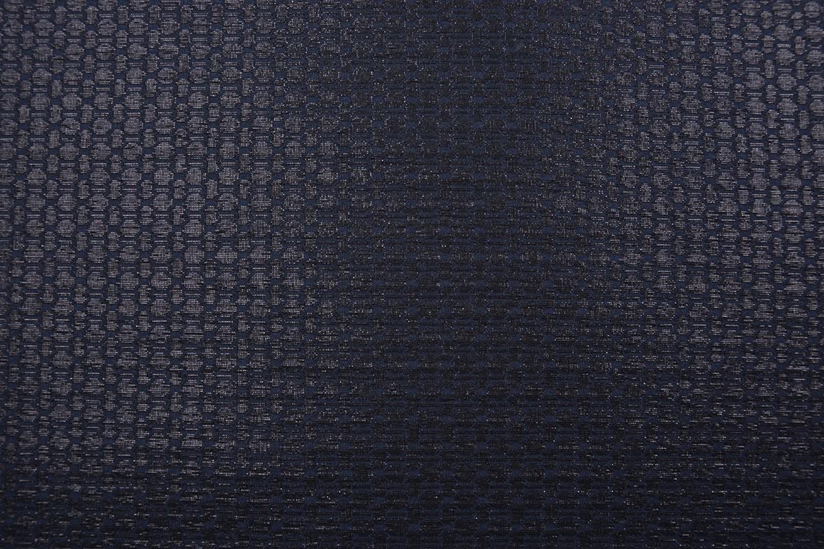Jacquard Lurex Bengaline Zwart-Blauw