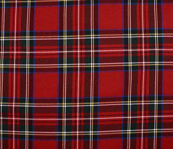 Scottish checks Large stretch Red