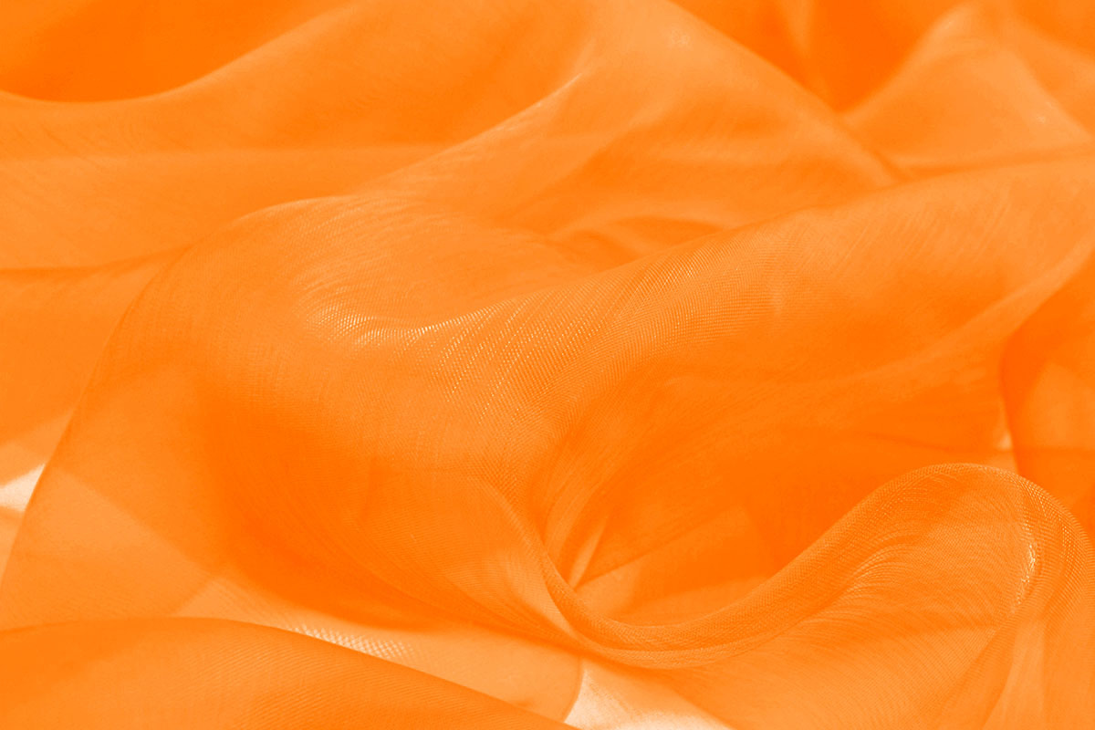 Organza Stoff Orange