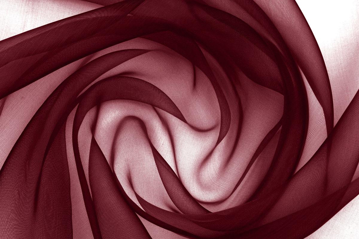 Organza Stoff Dunkel Rot