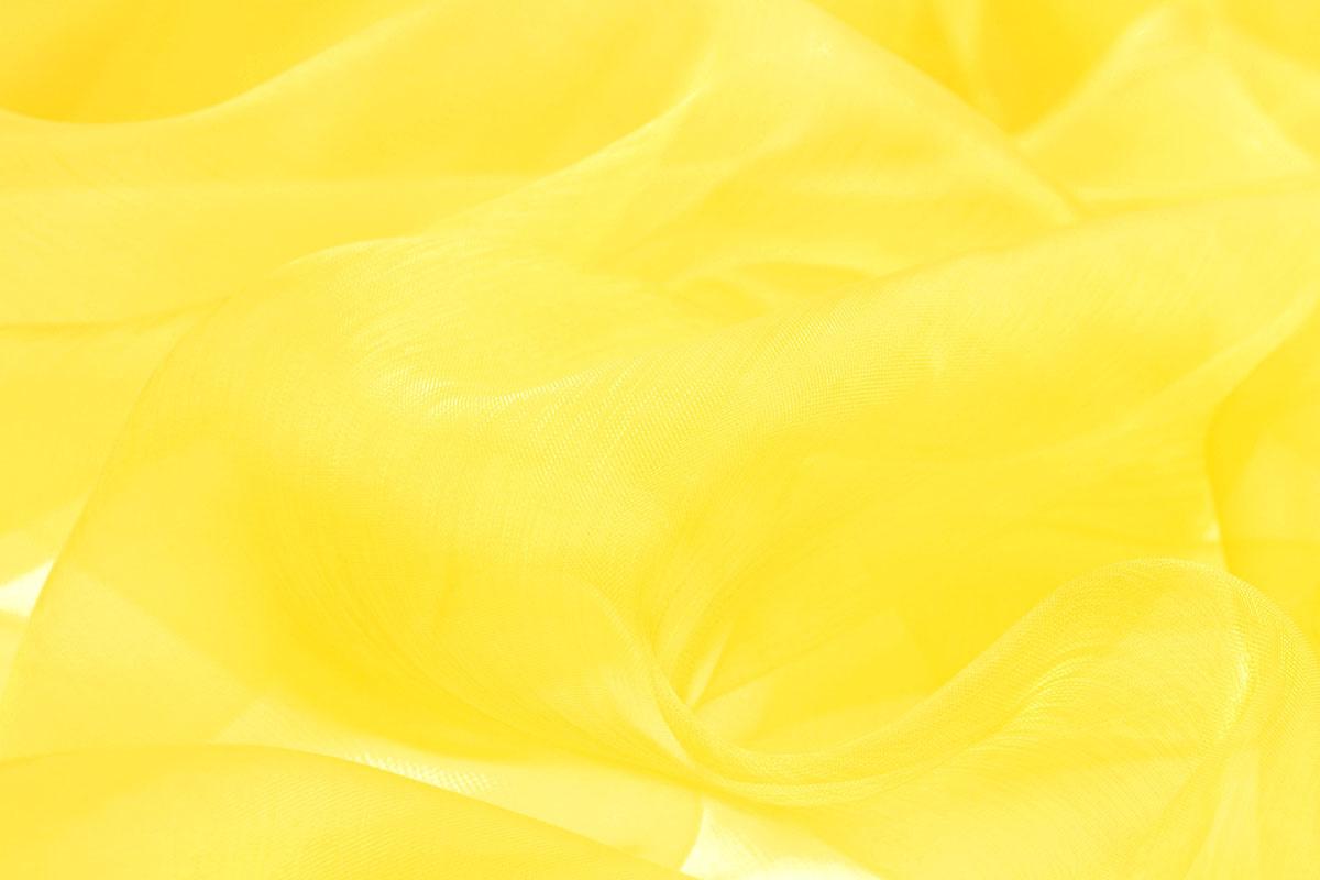 Organza Stoff Zitronengelb