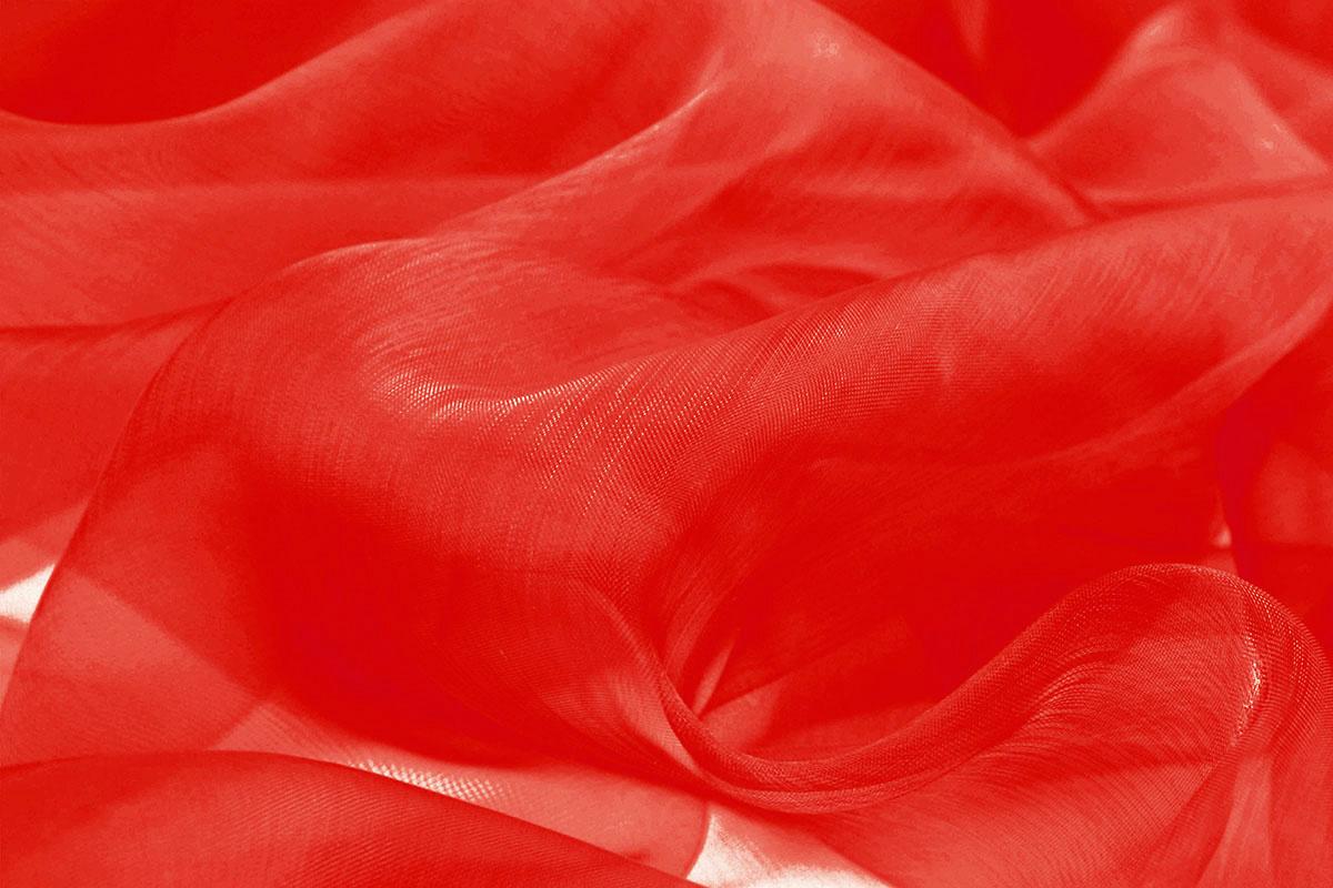 Organza Stoff Rot