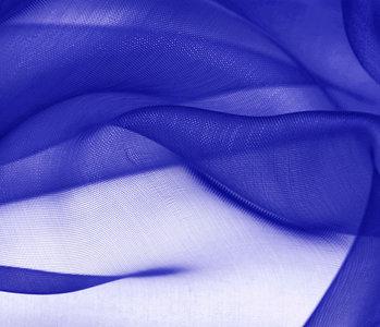 Organza Stoff Kobalt Blau