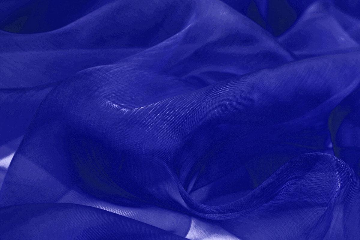 Organza Kobalt blauw