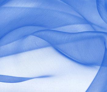 Organza Stoff Königs Blau