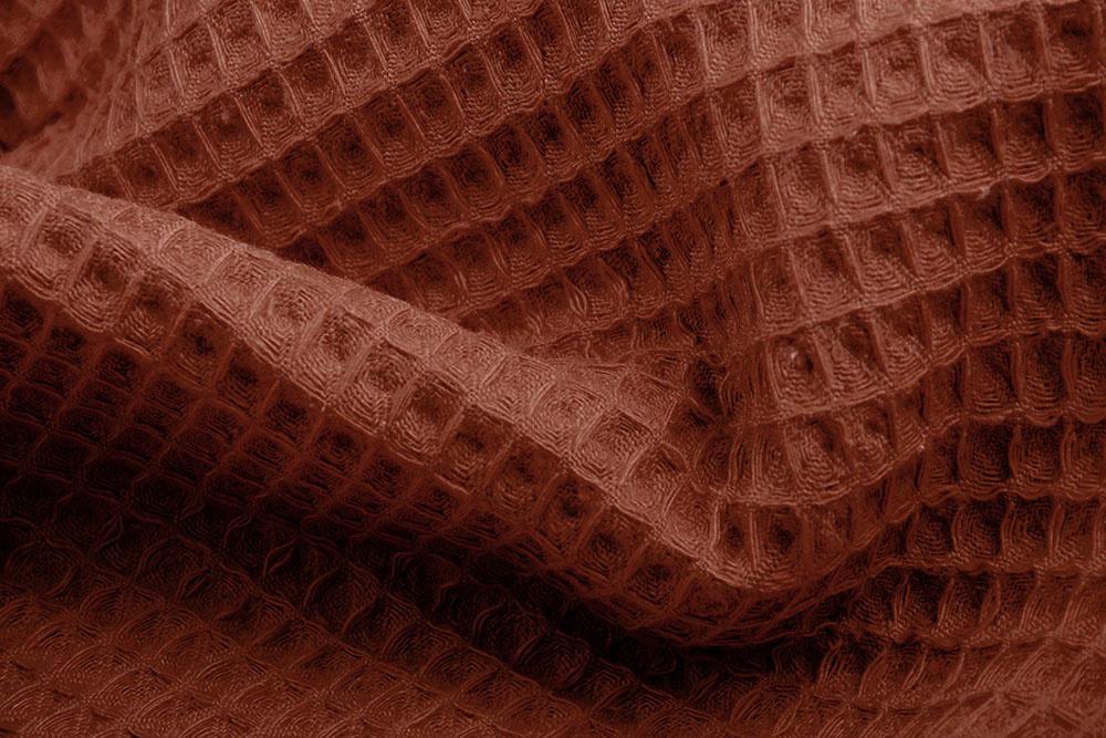 Oeko-Tex®  Waffle Pique Rust Brique