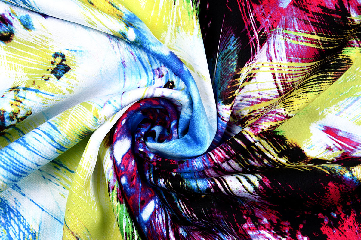 100% Viskose Digital Printed Arti Lime