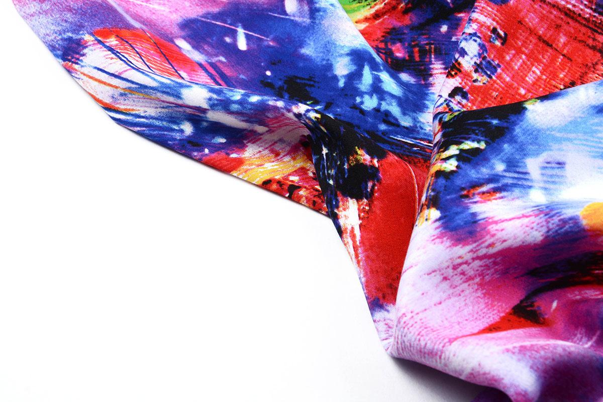 100% Viscose Digitaal Print Arti Geel