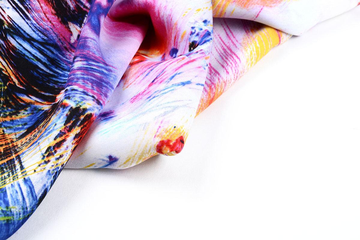 100% Viskose Digital Printed Arti Gelb