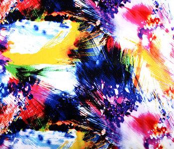 100% Viscose Digital Printed Arti Yellow