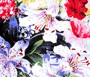 100% Viscose Digital Printed Lily