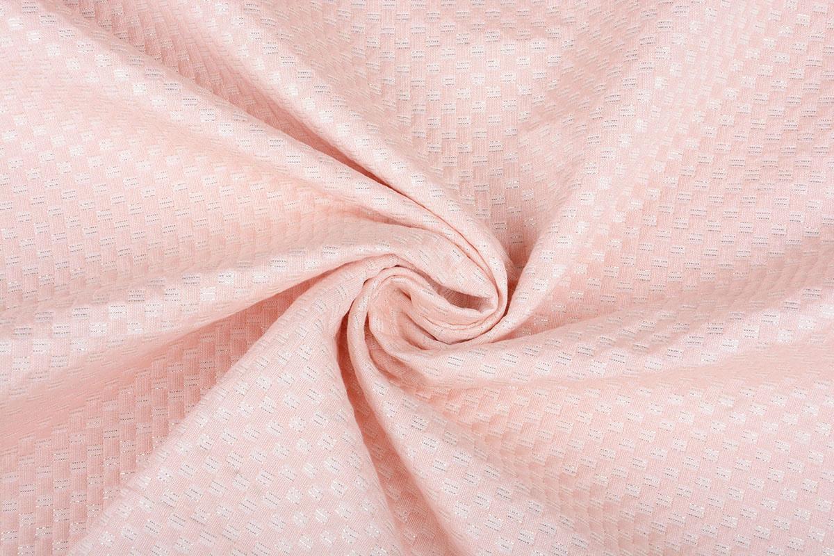 Lurex Relief Pastell Rosa
